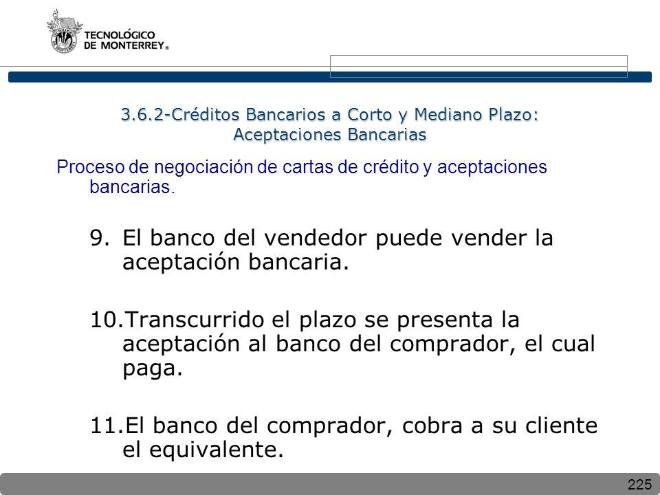 El banco del vendedor puede vender la aceptación bancaria.