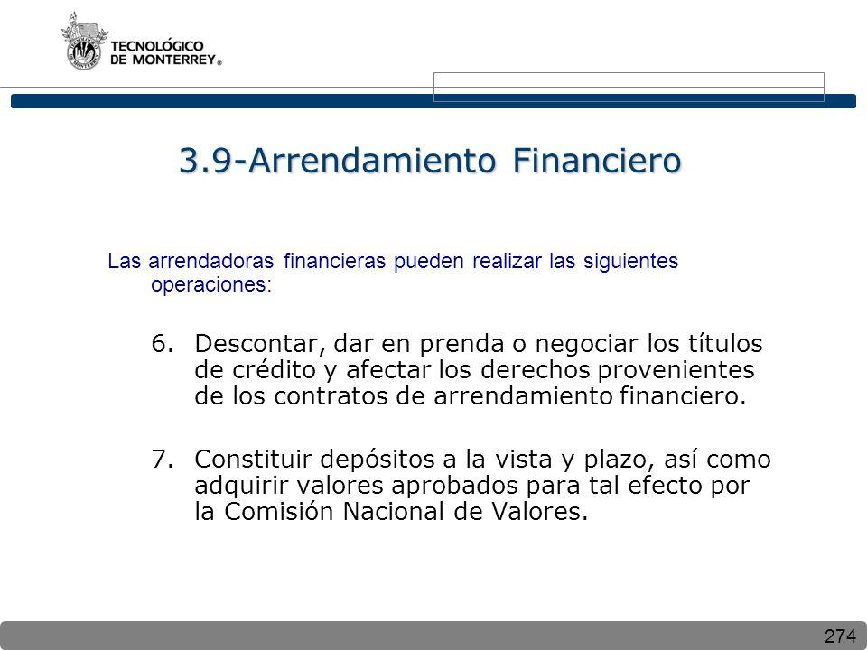 3.9-Arrendamiento Financiero