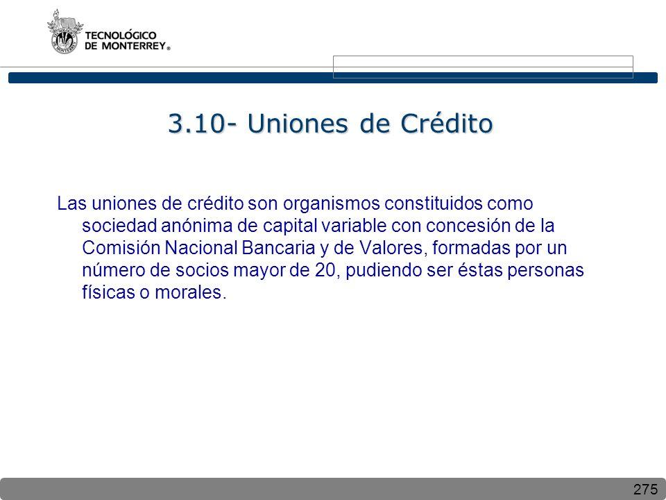 3.10- Uniones de Crédito