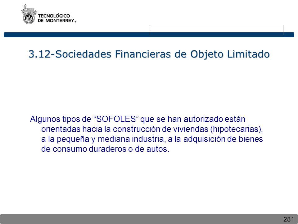 3.12-Sociedades Financieras de Objeto Limitado