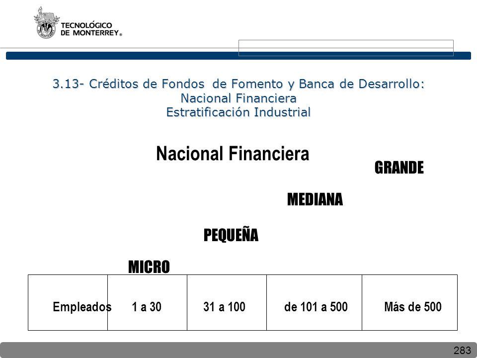 Nacional Financiera GRANDE MEDIANA PEQUEÑA MICRO