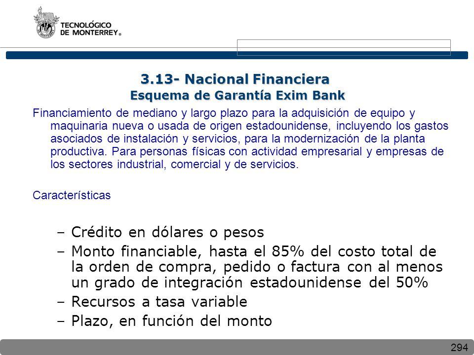 3.13- Nacional Financiera Esquema de Garantía Exim Bank