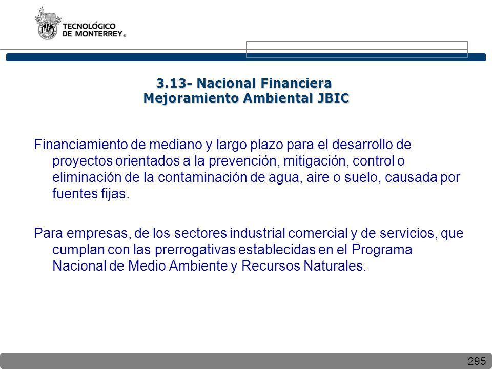 3.13- Nacional Financiera Mejoramiento Ambiental JBIC