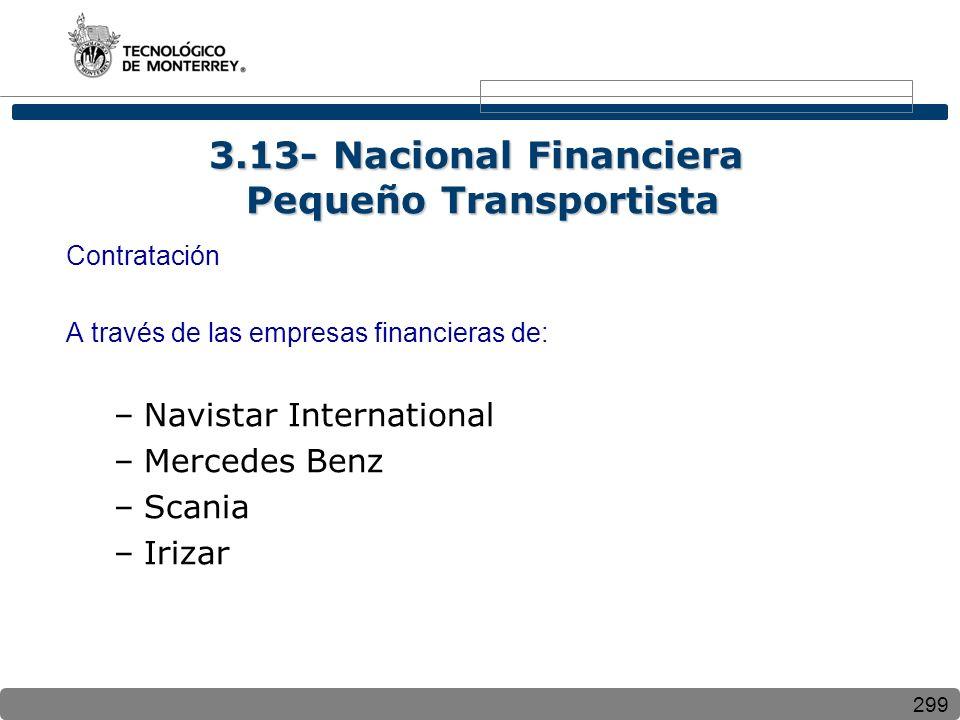 3.13- Nacional Financiera Pequeño Transportista