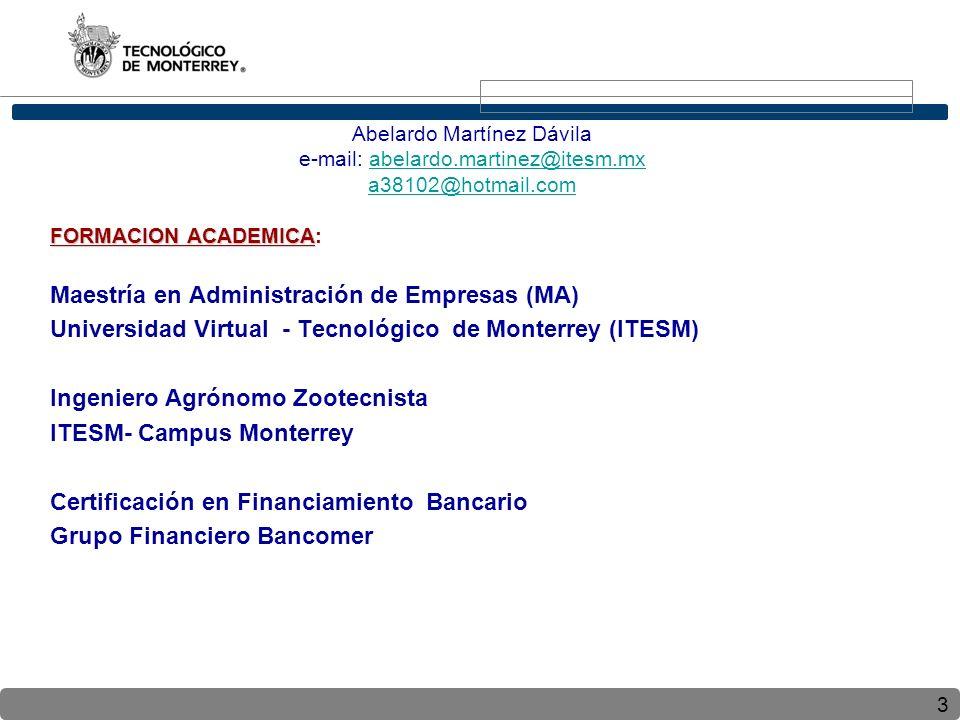 Maestría en Administración de Empresas (MA)