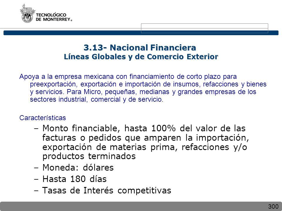 3.13- Nacional Financiera Líneas Globales y de Comercio Exterior