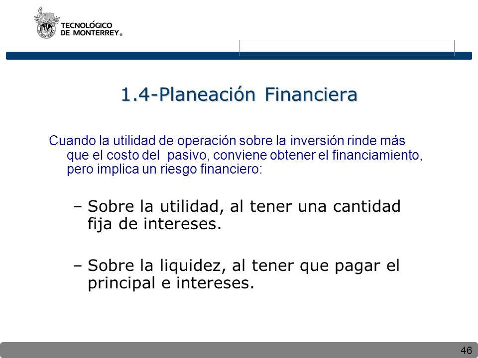 1.4-Planeación Financiera