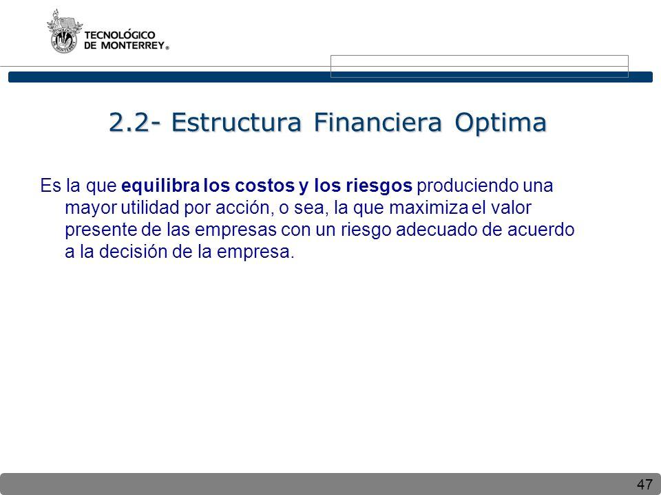 2.2- Estructura Financiera Optima