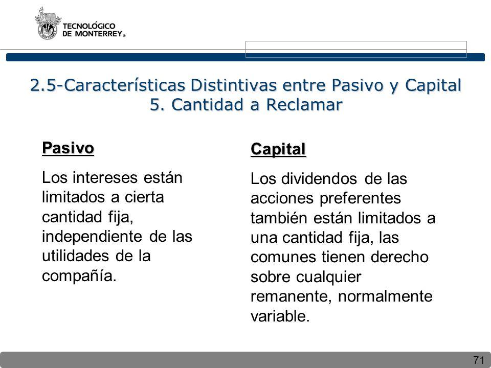2. 5-Características Distintivas entre Pasivo y Capital 5