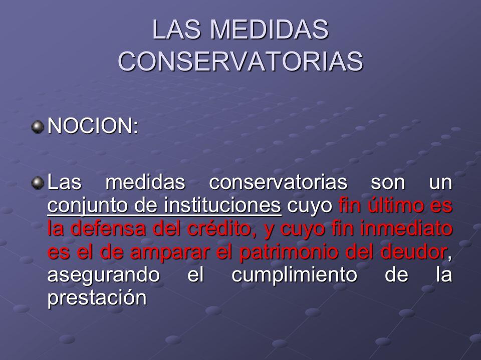 LAS MEDIDAS CONSERVATORIAS