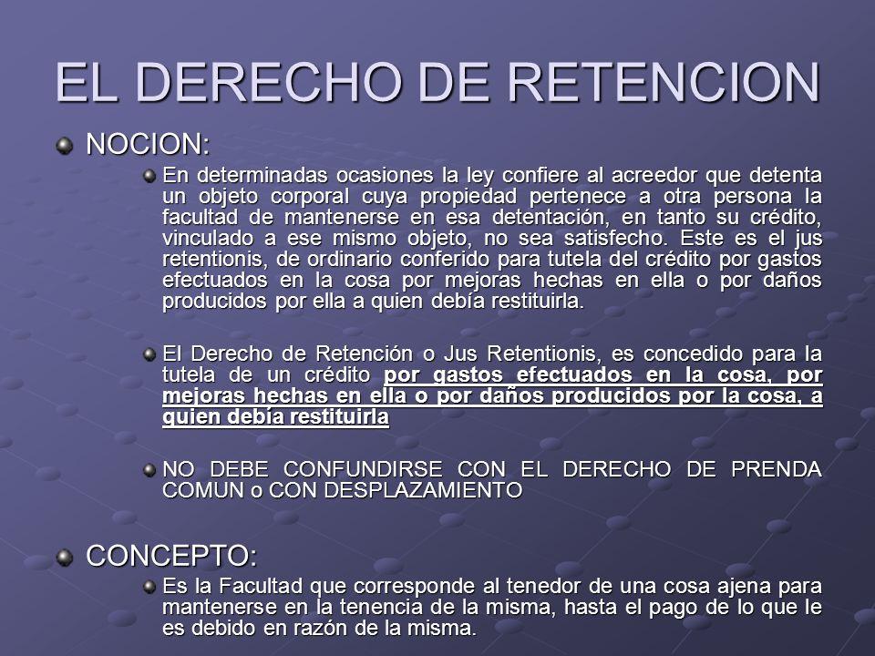 EL DERECHO DE RETENCION