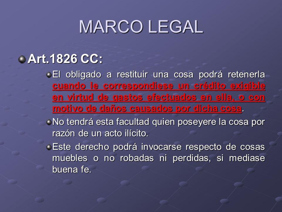 MARCO LEGALArt.1826 CC: