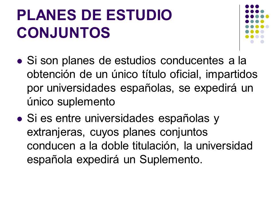 PLANES DE ESTUDIO CONJUNTOS