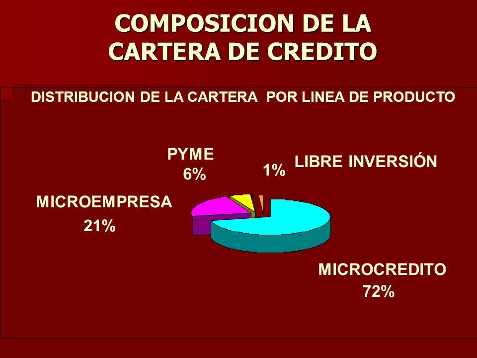 COMPOSICION DE LA CARTERA DE CREDITO
