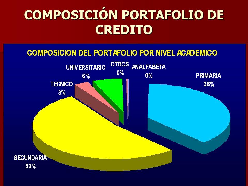 COMPOSICIÓN PORTAFOLIO DE CREDITO