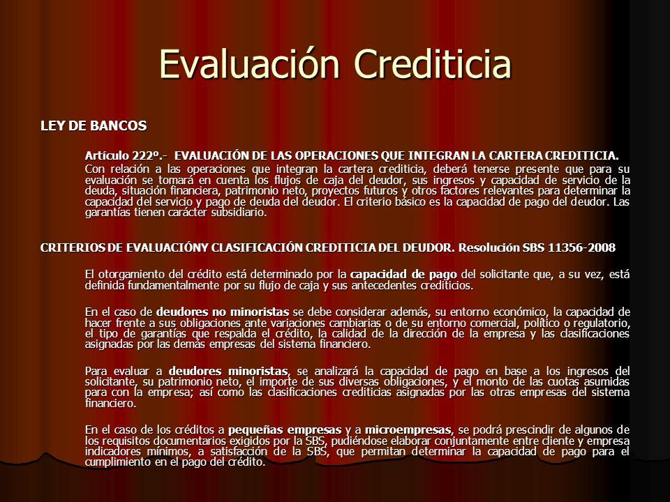 Evaluación Crediticia