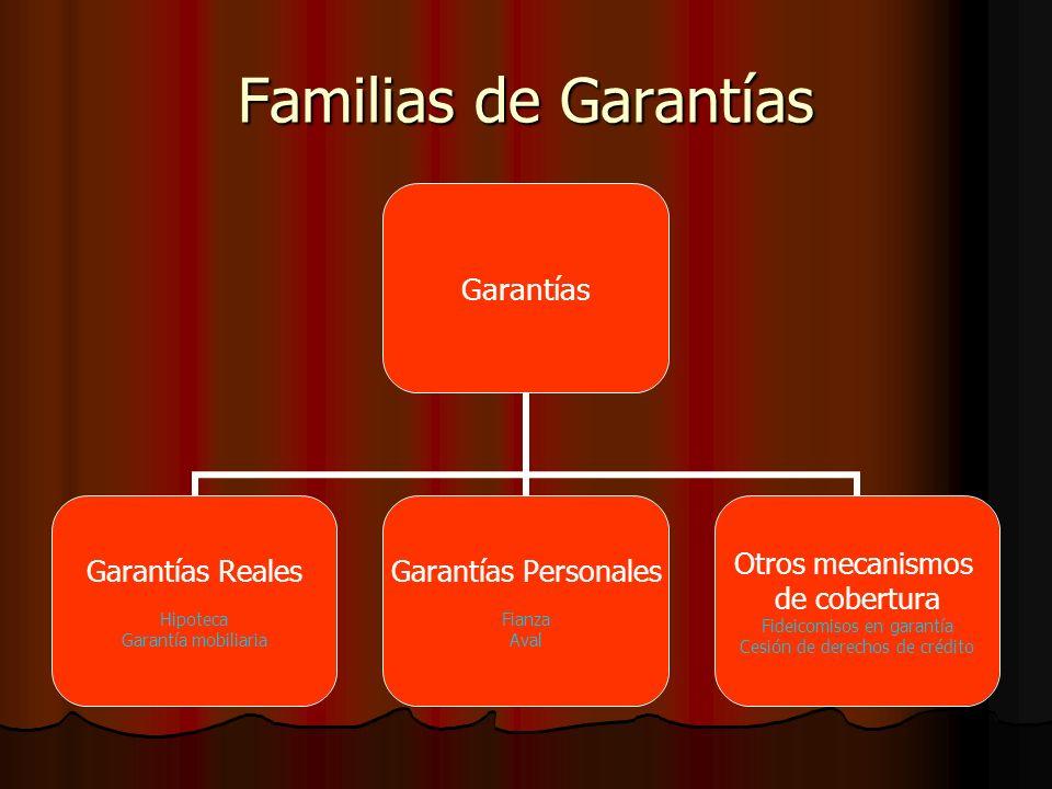 Familias de Garantías