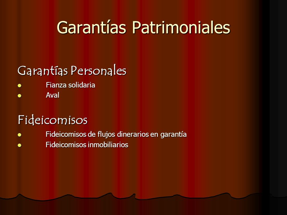 Garantías Patrimoniales