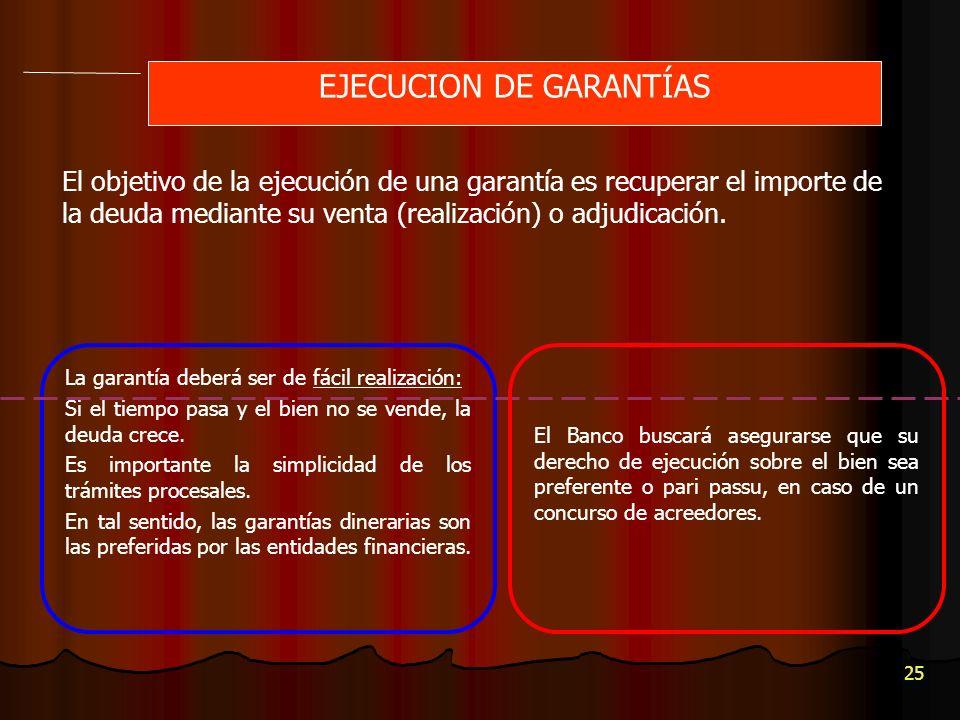 EJECUCION DE GARANTÍAS