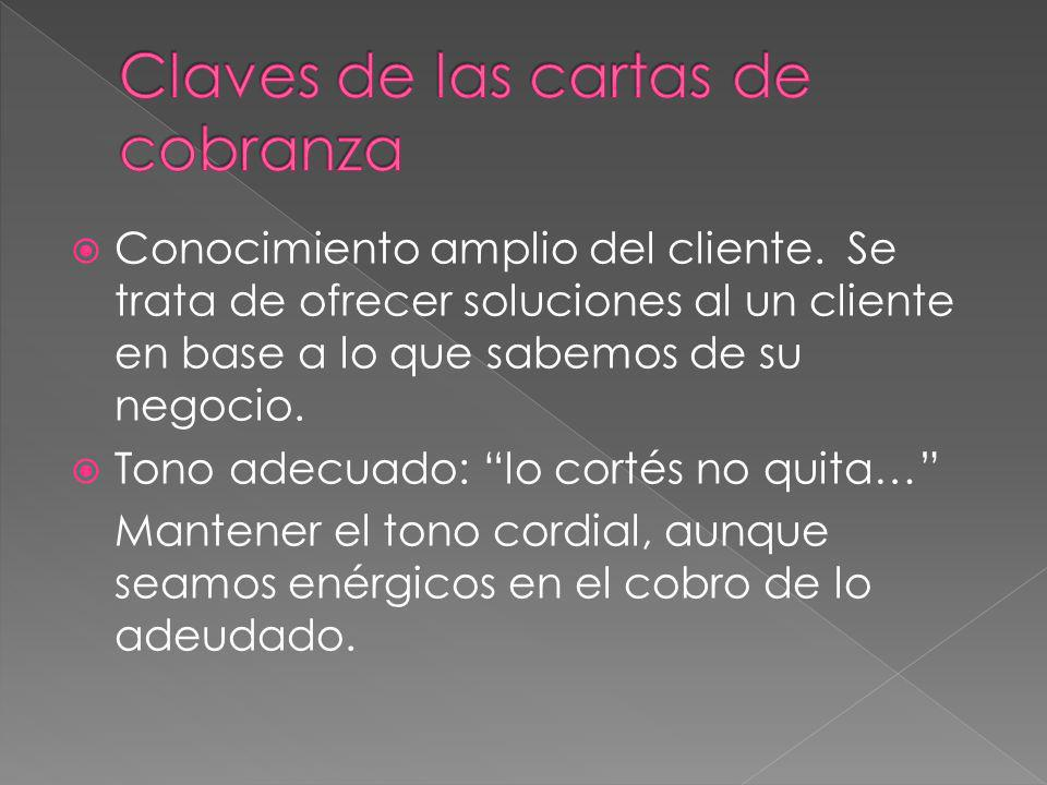 Claves de las cartas de cobranza