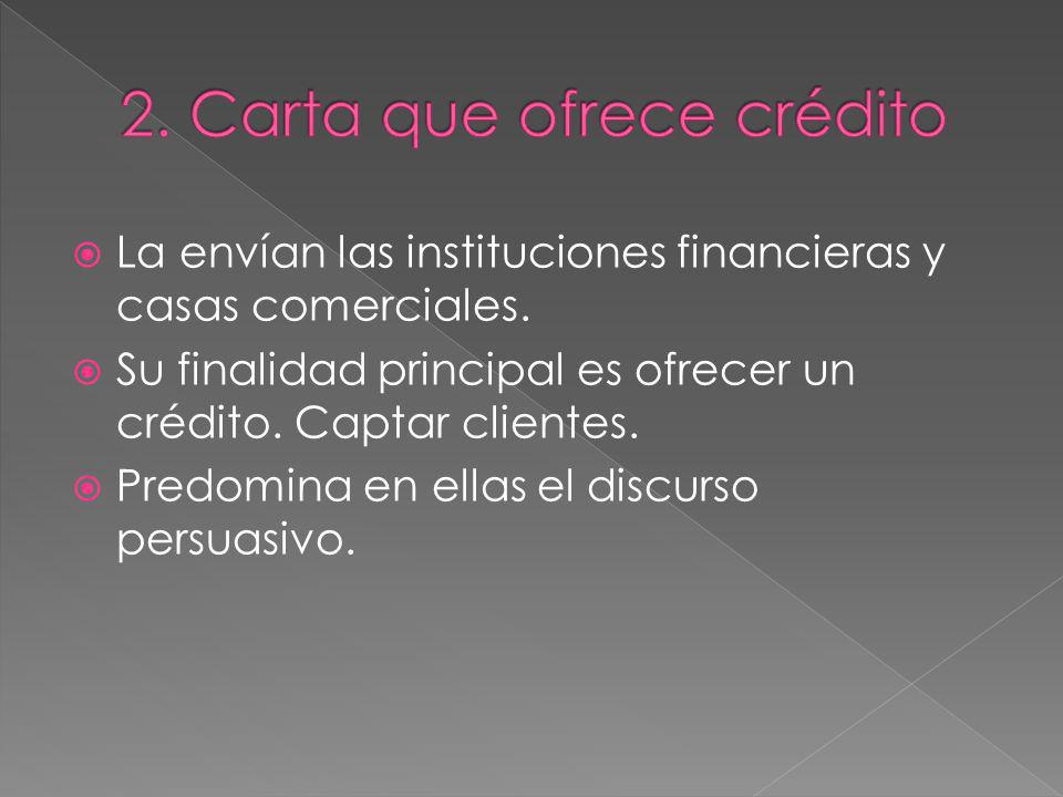 2. Carta que ofrece crédito