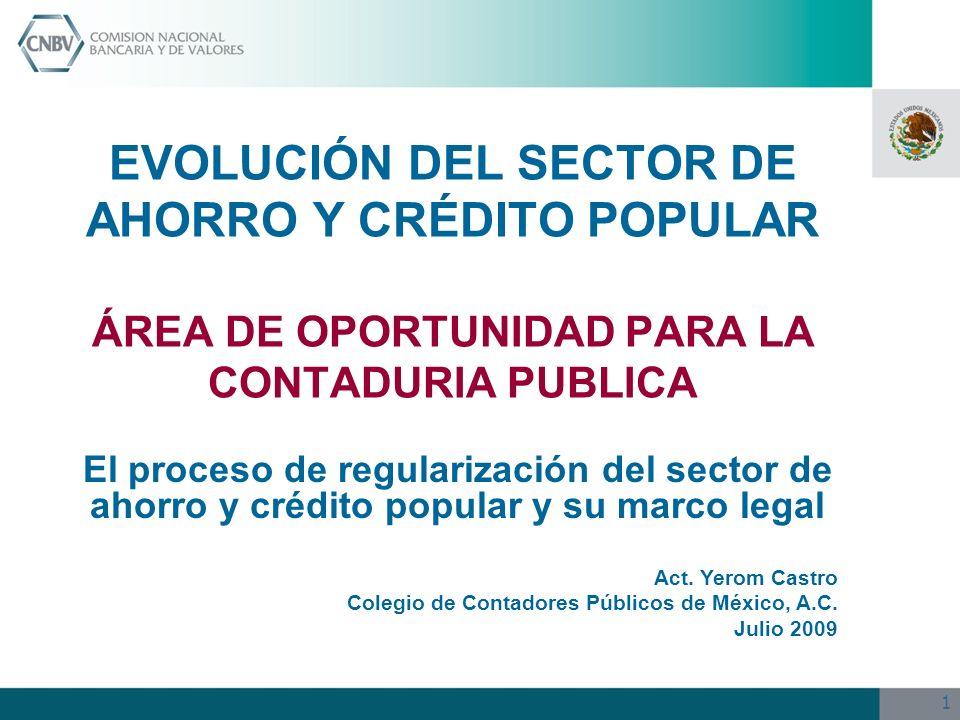 EVOLUCIÓN DEL SECTOR DE AHORRO Y CRÉDITO POPULAR ÁREA DE OPORTUNIDAD PARA LA CONTADURIA PUBLICA