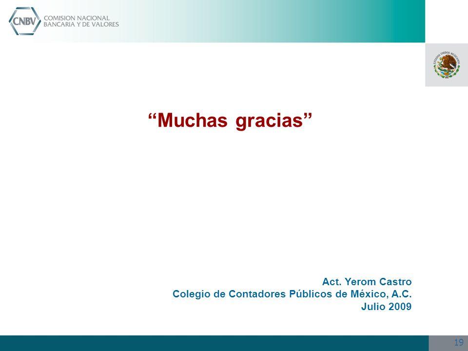 Muchas gracias Act. Yerom Castro