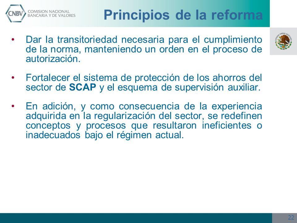 Principios de la reforma