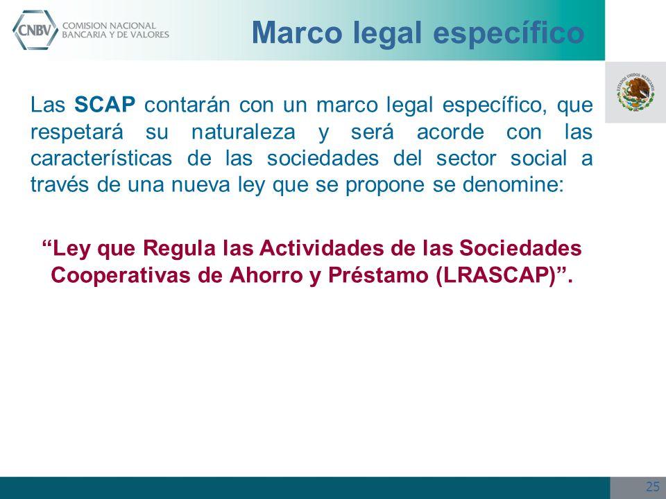 Marco legal específico
