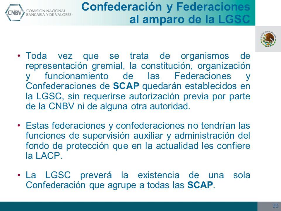Confederación y Federaciones al amparo de la LGSC