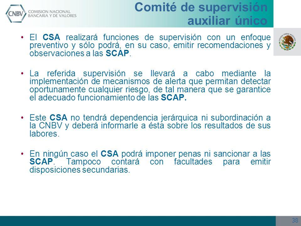 Comité de supervisión auxiliar único