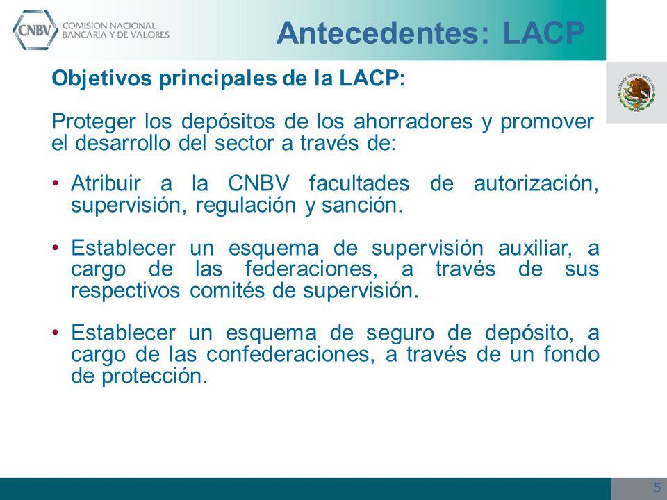 Antecedentes: LACP Objetivos principales de la LACP:
