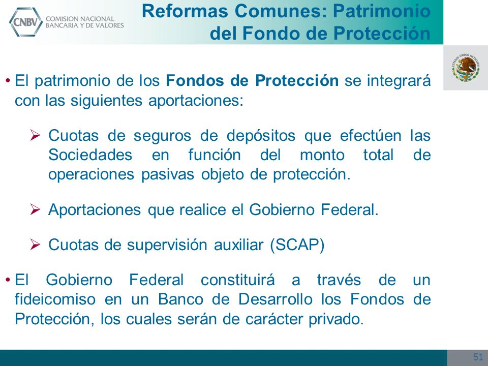 Reformas Comunes: Patrimonio del Fondo de Protección