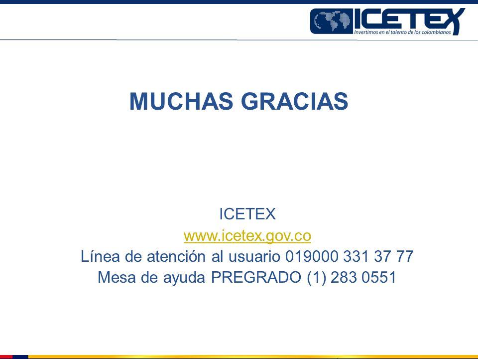 MUCHAS GRACIAS ICETEX www.icetex.gov.co