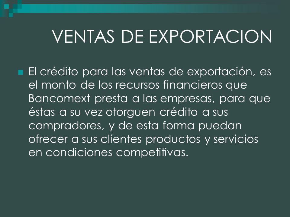 VENTAS DE EXPORTACION