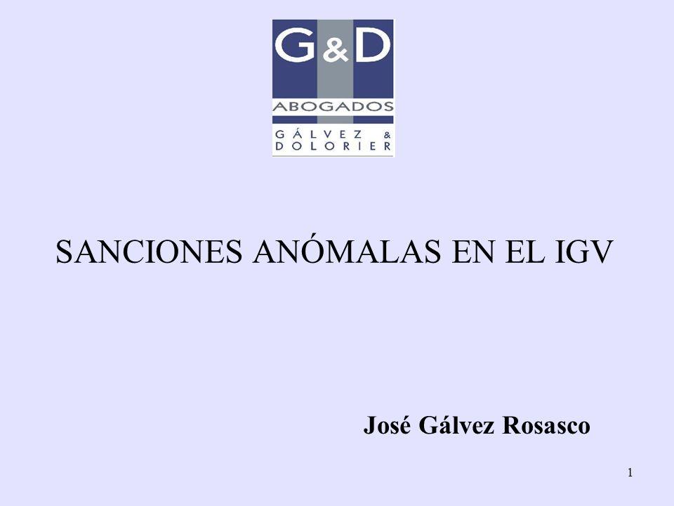 SANCIONES ANÓMALAS EN EL IGV