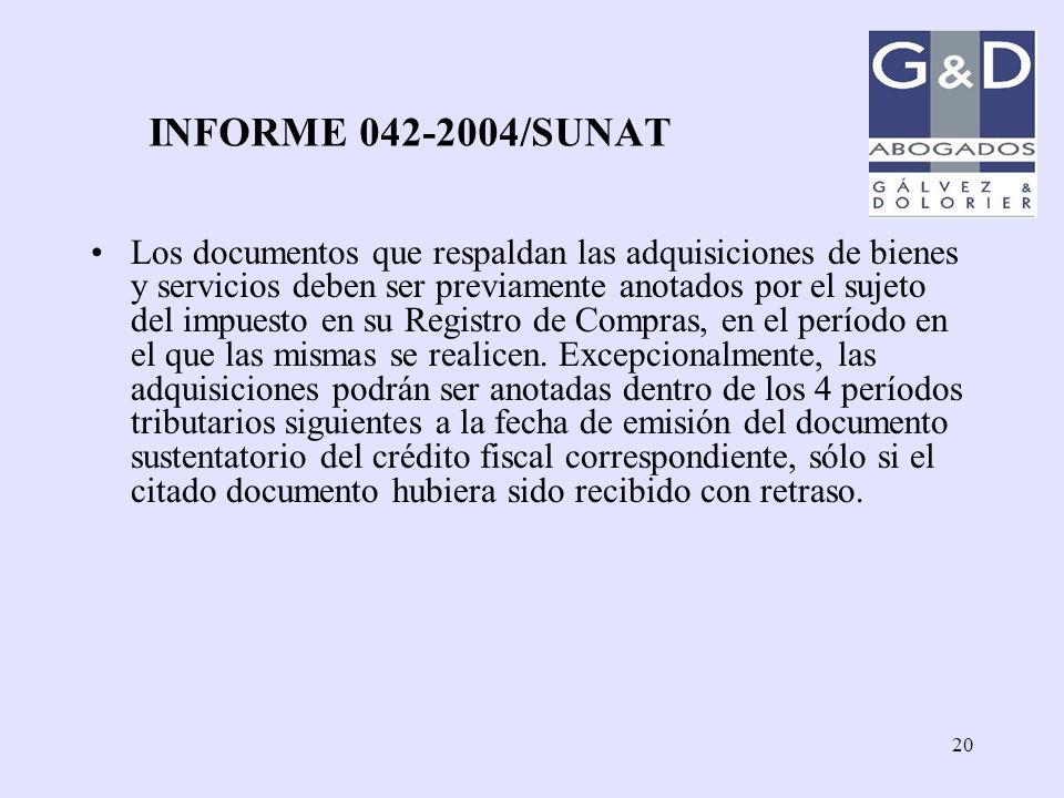 INFORME 042-2004/SUNAT