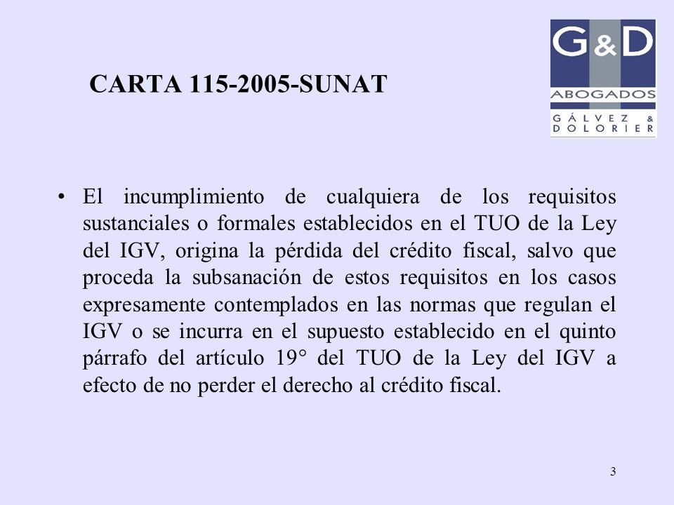 CARTA 115-2005-SUNAT