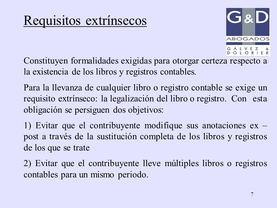 Requisitos extrínsecos