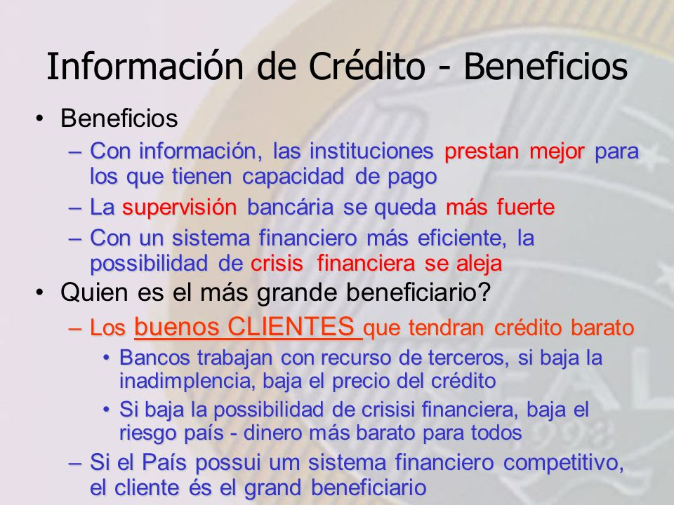 Información de Crédito - Beneficios