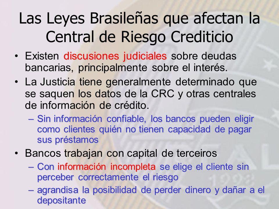 Las Leyes Brasileñas que afectan la Central de Riesgo Crediticio