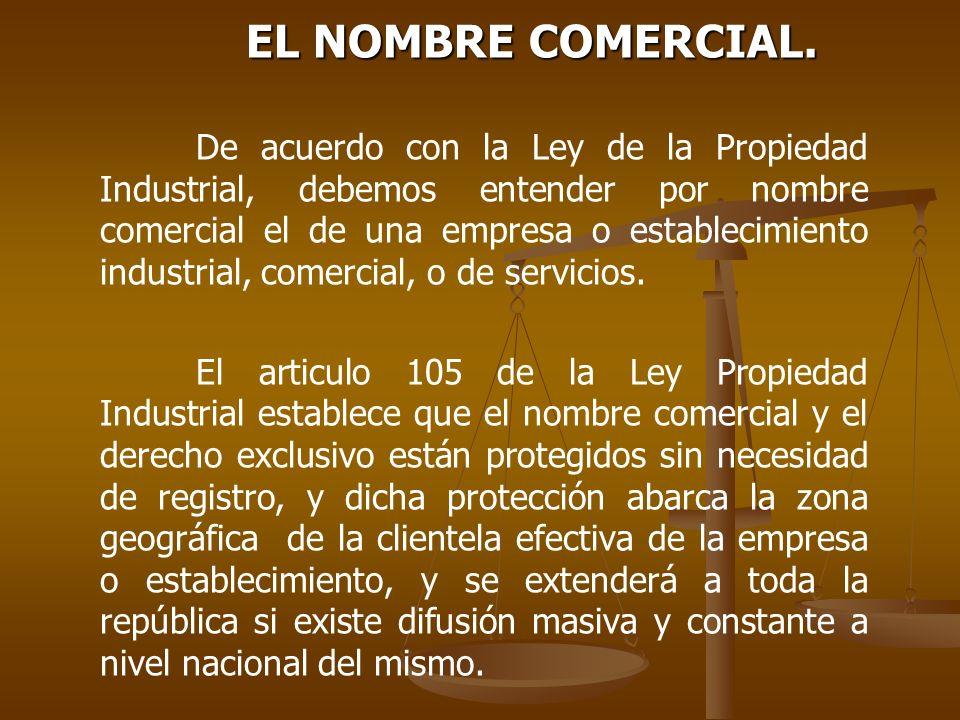 EL NOMBRE COMERCIAL.