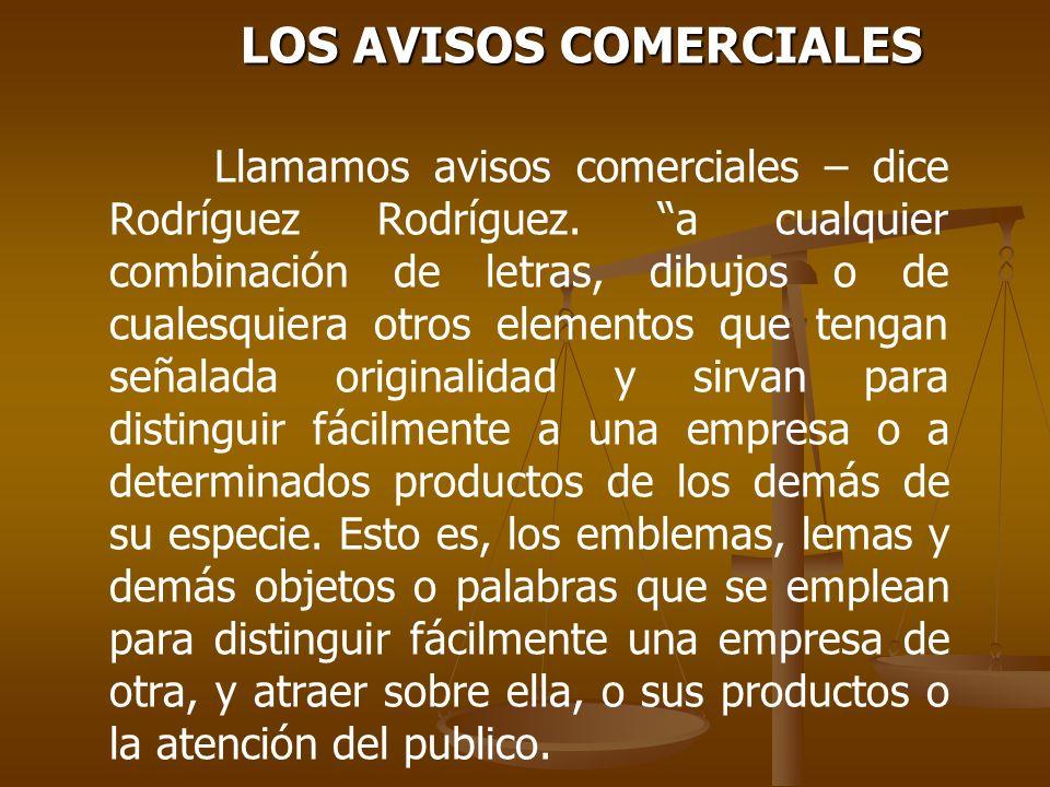 LOS AVISOS COMERCIALES
