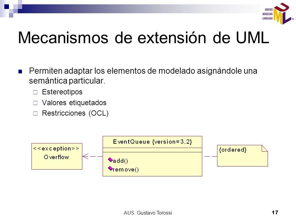 Mecanismos de extensión de UML