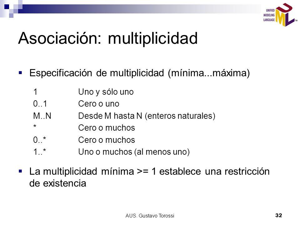 Asociación: multiplicidad