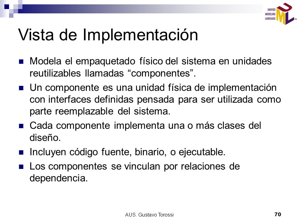 Vista de Implementación