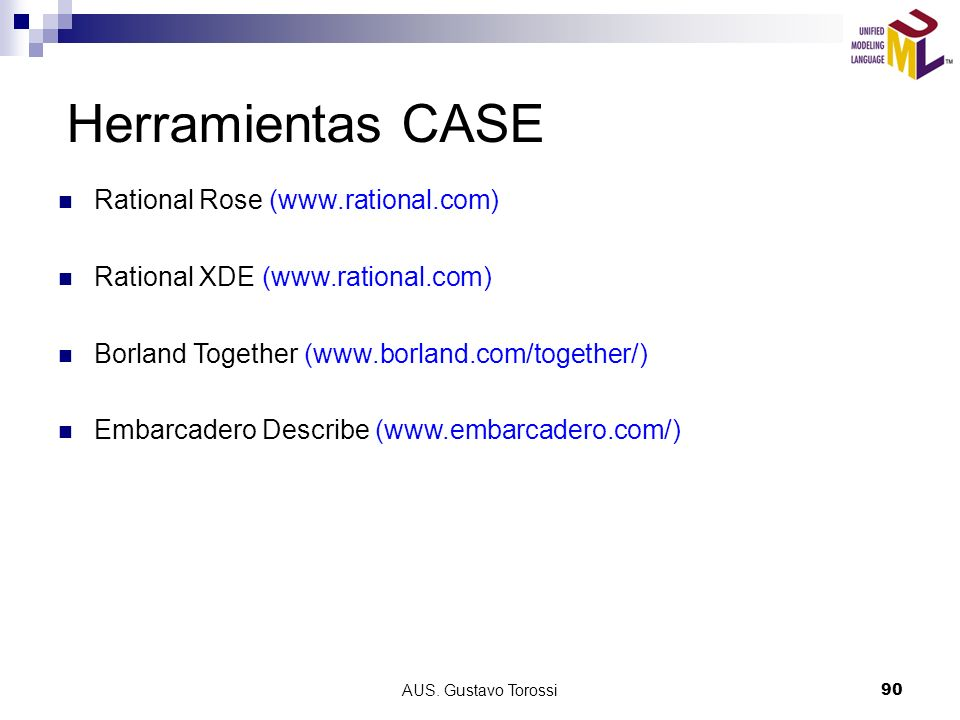 Herramientas CASE Rational Rose (www.rational.com)