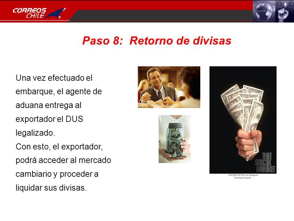 Paso 8: Retorno de divisas