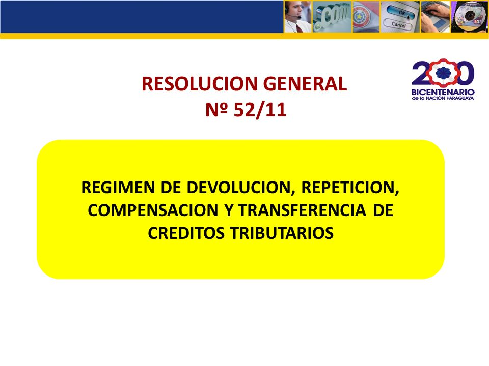 RESOLUCION GENERAL Nº 52/11