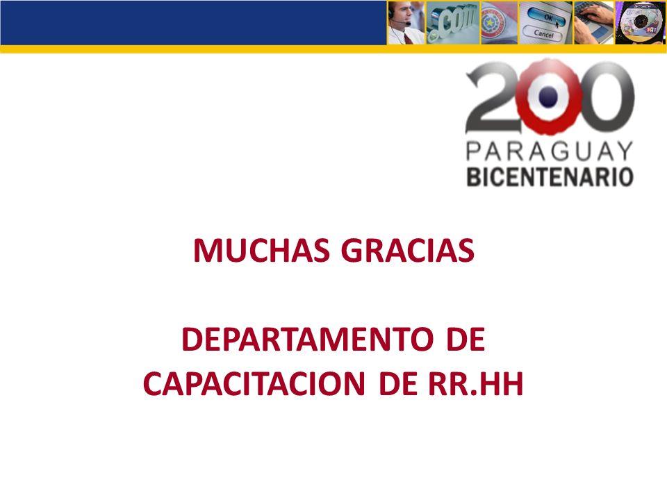 DEPARTAMENTO DE CAPACITACION DE RR.HH